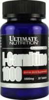 Ultimate Nutrition L-Carnitine 1000mg (USP) 30 таблеток